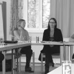 Mag.a Dr.iur Karin Schableger und Mag.a Brigitta Schmidsberger zu Gast beim Armutsnetzwerk OÖ im Linzer Cardijnhaus.