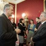 Christian Winkler im Gespräch mit dem Staatsoberhaupt